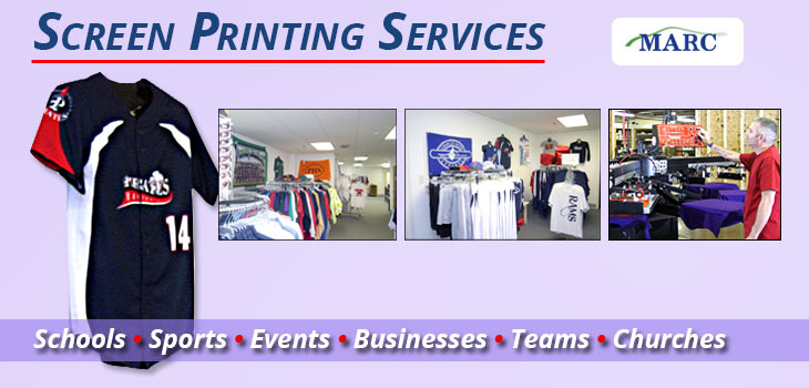 MARC offers high-quality Screen Printing Services.