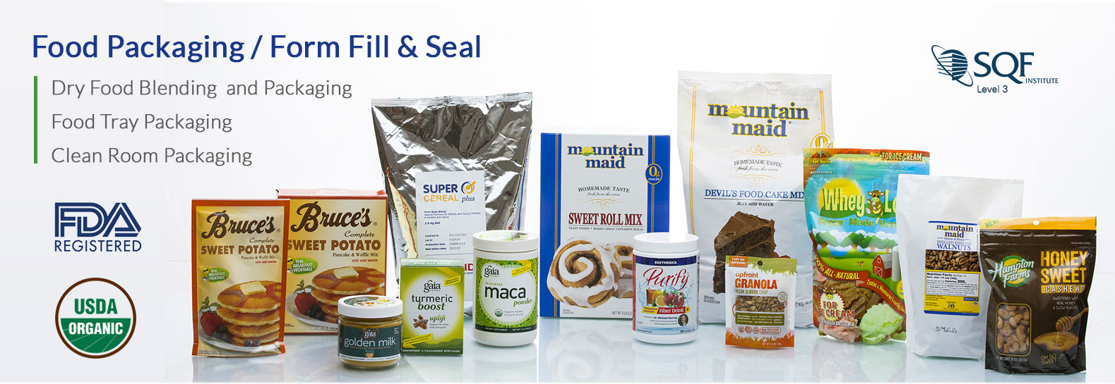 MARC provides Dry Food Blending and Packaging Services