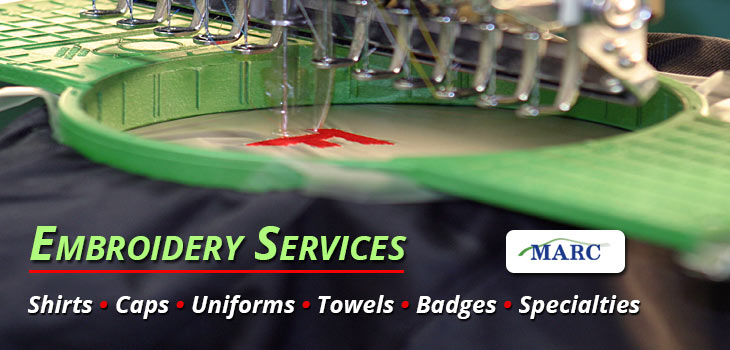Embroidery Services by MARC in Asheville and Hendersonville North Carolina