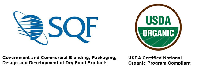 MARC- Food Packaging Services are SQF Registered and USDA Organic Certified